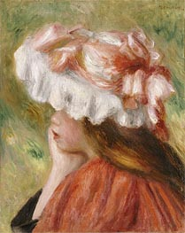 Renoir | Young Girl in a Red Hat | Giclée Canvas Print
