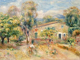Renoir | Collettes Farmhouse, Cagnes | Giclée Canvas Print
