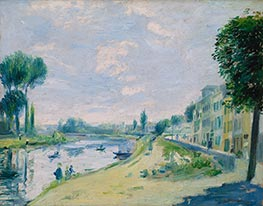 Renoir | The Banks of the Seine at Bougival, c.1875 | Giclée Canvas Print