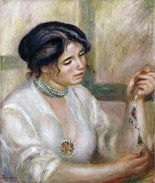 Renoir | Woman with a Necklace | Giclée Canvas Print