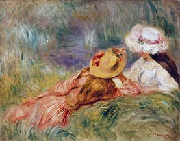 Renoir | Young Girls on the River Bank | Giclée Canvas Print