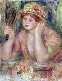 Renoir | Woman with a Mirror | Giclée Canvas Print