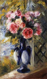 Renoir | Roses in a Blue Vase, 1892 | Giclée Canvas Print