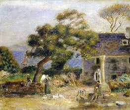 Renoir | View of Treboul, c.1895 | Giclée Canvas Print