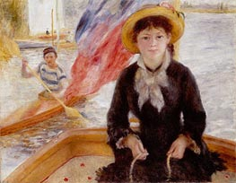 Renoir | Woman in Boat with Canoeist, 1877 | Giclée Canvas Print