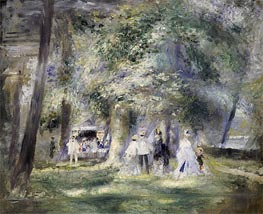 Renoir | In the Park at Saint-Cloud, 1866 | Giclée Canvas Print