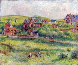 Renoir | The House of Blanche Pierson, Pourville, 1882 | Giclée Canvas Print