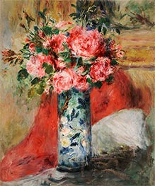 Renoir | Roses and Peonies in a Vase, 1876 | Giclée Canvas Print