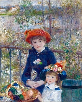 Two Sisters (On the Terrace), 1881 | Renoir | Painting Reproduction