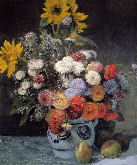 Renoir | Mixed Flowers in an Earthenware Pot, c.1869 | Giclée Canvas Print
