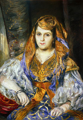 Madame Clementine Stora in Algerian Dress, 1870 | Renoir | Painting Reproduction