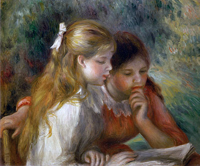 The Reading, c.1890/95 | Renoir | Painting Reproduction