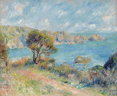 View at Guernsey, 1883 | Renoir | Giclée Canvas Print