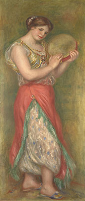 Dancing Girl with Tambourine, 1909 | Renoir | Giclée Canvas Print