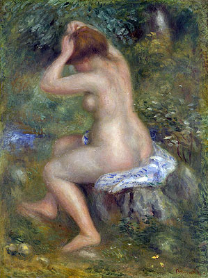 A Bather, c.1885/90 | Renoir | Giclée Canvas Print