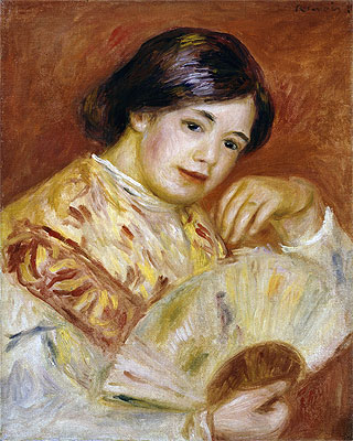 Coco with a Japanese Fan, c.1906 | Renoir | Painting Reproduction