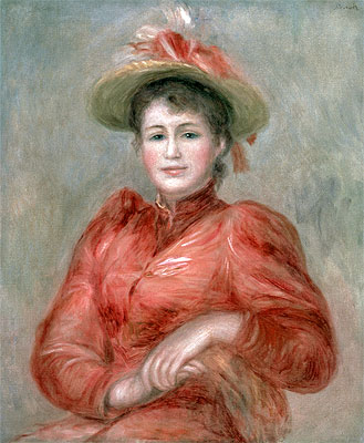 Young Woman in Red Dress, c.1892 | Renoir | Giclée Canvas Print