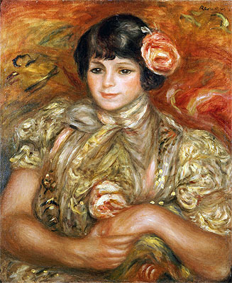 Woman with a Rose, 1900 | Renoir | Giclée Canvas Print