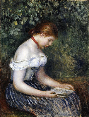 The Reader (A Seated Young Girl), 1887 | Renoir | Giclée Canvas Print