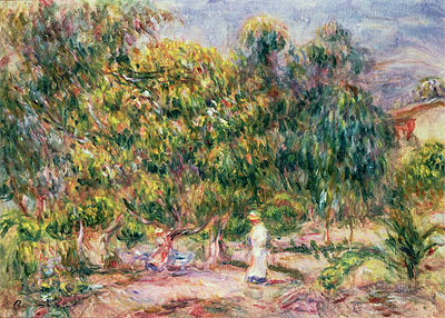 The Woman in White in the Garden of Les Colettes, 1915 | Renoir | Giclée Canvas Print
