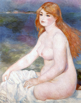 Bather (Blonde Bather II), 1882 | Renoir | Giclée Canvas Print