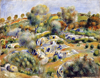 Brittany Landscape with Trees and Rocks, undated | Renoir | Giclée Canvas Print