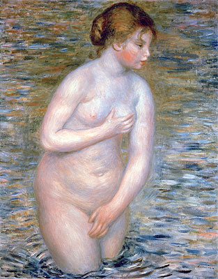 Nude in the Water, 1888 | Renoir | Giclée Canvas Print