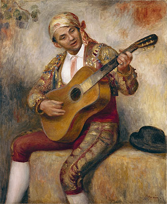 The Spanish Guitarist, 1894 | Renoir | Giclée Canvas Print