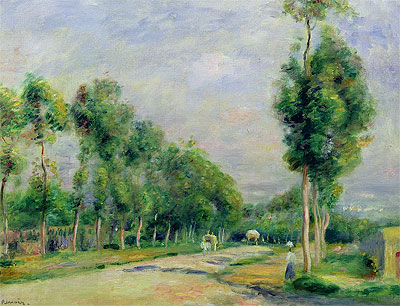 The Road to Versailles at Louveciennes, undated   Renoir   Painting Reproduction