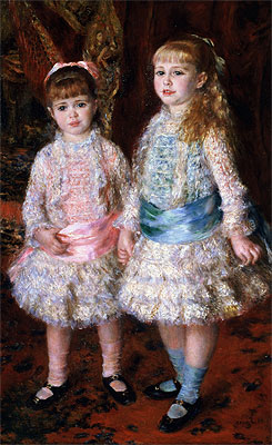 Pink and Blue (The Cahen d'Anvers Girls), 1881 | Renoir | Painting Reproduction