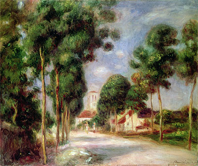 The Road to Essoyes, 1901 | Renoir | Giclée Canvas Print
