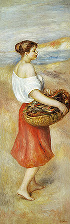Girl with a Basket of Fish, c.1889 | Renoir | Giclée Canvas Print