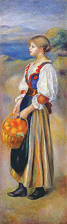 Renoir | Girl with a Basket of Oranges, c.1889 | Giclée Canvas Print