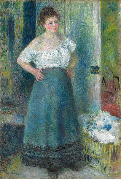 The Laundress, c.1877/79 | Renoir | Giclée Canvas Print