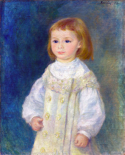 Lucie Berard (Child in White), 1883 | Renoir | Giclée Canvas Print