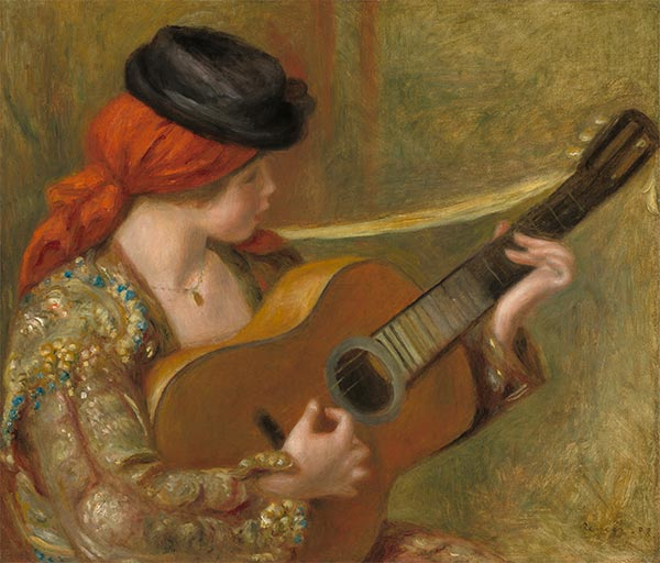 Young Spanish Woman with a Guitar, 1898 | Renoir | Giclée Canvas Print