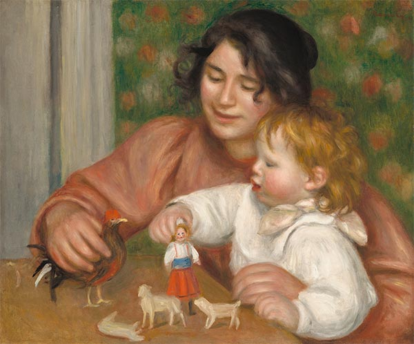 Child with Toys - Gabrielle and the Artist's Son, Jean, c.1895/96 | Renoir | Painting Reproduction