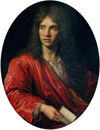 Pierre Mignard | Portrait of Moliere, undated | Giclée Canvas Print