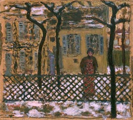 Pierre Bonnard | Behind the Fence, 1895 | Giclée Canvas Print