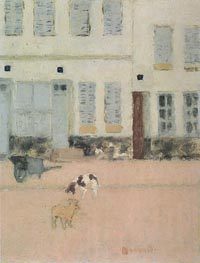 Pierre Bonnard | Two Dogs in a Deserted Street | Giclée Canvas Print