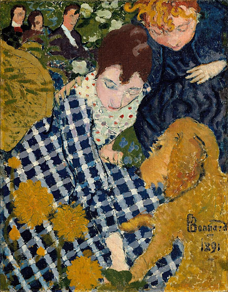 Women with Dog, 1891 | Pierre Bonnard | Giclée Canvas Print