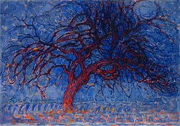 Mondrian | Evening: The Red Tree, c.1908/10 | Giclée Canvas Print