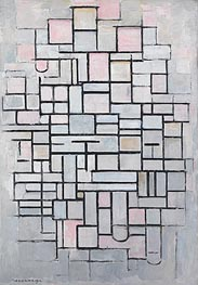 Mondrian | Composition no. IV, 1914 | Giclée Canvas Print