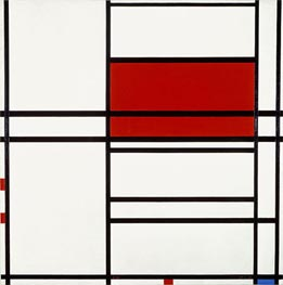 Mondrian   Composition of Red and White (Composition No. 4 with Red and Blue), 1938-42   Giclée Canvas Print