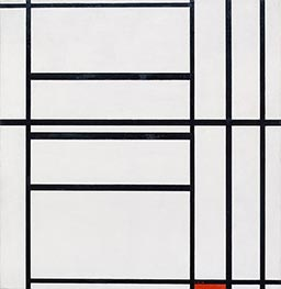 Mondrian | Composition No 1 with Grey and Red, 1938 | Giclée Canvas Print