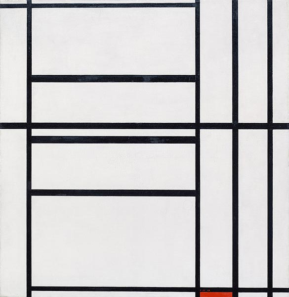 Composition No 1 with Grey and Red, 1938 | Mondrian | Giclée Canvas Print