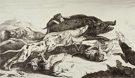 Pieter Boel | The Boar Hunting, undated | Giclée Paper Print