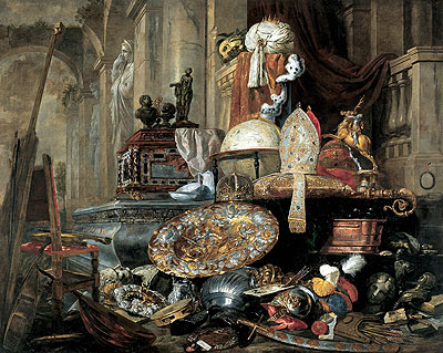 Large Vanitas Still-Life (Allegory of the Vanities of the World), 1663 | Pieter Boel | Giclée Canvas Print