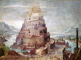 Pieter Bruegel the Younger | Tower of Babel, a.1563 | Giclée Canvas Print