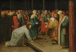 Pieter Bruegel the Younger | Christ and the Woman Taken in Adultery, c.1600 | Giclée Canvas Print
